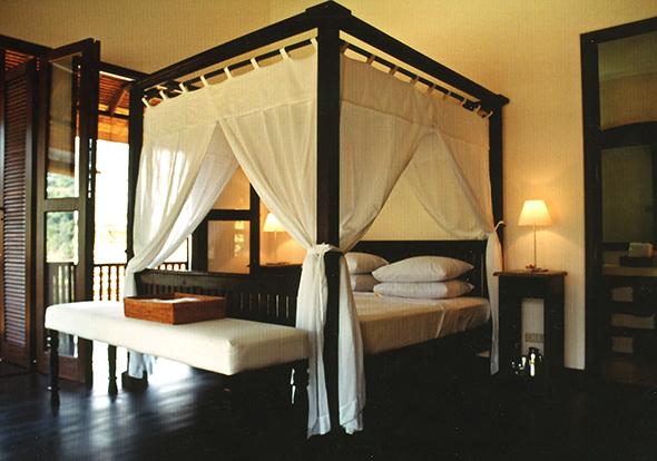 Master bedroom van de vakantiewoning Villa Bali Breeze