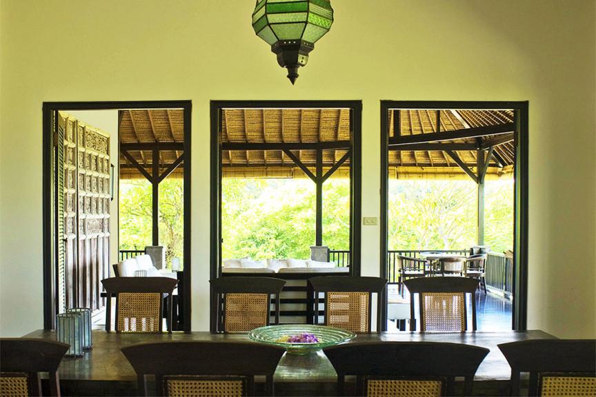 Eetkamer en huiskamer Villa Bali Breeze