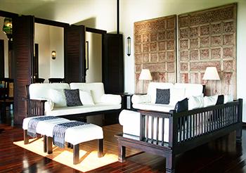 De open woonkamer van Villa Bali Breeze Lovina